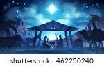 christmas nativity scene of... | Shutterstock .eps vector #462250240
