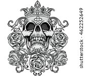 gothic coat of arms with skull  ...   Shutterstock .eps vector #462252649