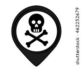 skull pin pointer caution...   Shutterstock .eps vector #462252679