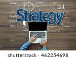 planning marketing strategy ... | Shutterstock . vector #462254698