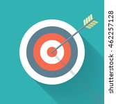 aiming concept  the arrow in... | Shutterstock .eps vector #462257128