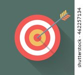 aiming concept  the arrow in... | Shutterstock .eps vector #462257134