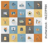 school and education icon set.... | Shutterstock .eps vector #462259984