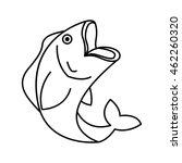 fish animal aquatic icon vector ... | Shutterstock .eps vector #462260320