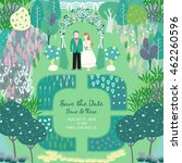 save the date. green card with...   Shutterstock .eps vector #462260596