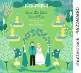 save the date. vector card with ... | Shutterstock .eps vector #462260680