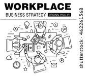 modern workplace business...   Shutterstock .eps vector #462261568