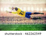 soccer goalkeeper flying to... | Shutterstock . vector #462262549