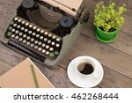 vintage typewriter on the old... | Shutterstock . vector #462268444