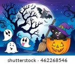 halloween cat theme image 4  ... | Shutterstock .eps vector #462268546