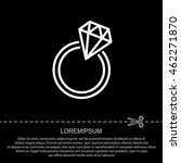 web line icon. diamond ring. | Shutterstock .eps vector #462271870