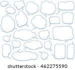 set of different shapes and... | Shutterstock .eps vector #462275590