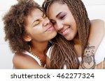two young afro girls having fun ...   Shutterstock . vector #462277324