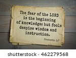 Top 500 Bible Verses. The Fear...