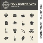 food icon drink icon set vector | Shutterstock .eps vector #462284503