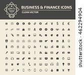 financial money icon set vector | Shutterstock .eps vector #462294904