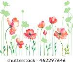 poppy flowers | Shutterstock .eps vector #462297646