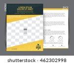 flyer template. business... | Shutterstock .eps vector #462302998