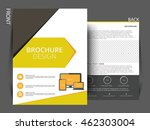 flyer template. business... | Shutterstock .eps vector #462303004