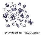set of floral  design elements... | Shutterstock .eps vector #462308584