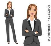 beautiful businesswoman  set of ... | Shutterstock .eps vector #462313906