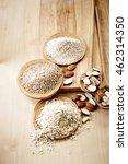 almond   almond crush on wood   Shutterstock . vector #462314350