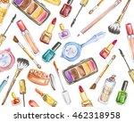 watercolor cosmetics set on...   Shutterstock . vector #462318958