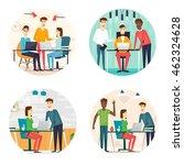 business cartoon characters.... | Shutterstock .eps vector #462324628