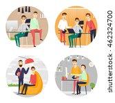 business cartoon characters.... | Shutterstock .eps vector #462324700