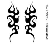 flame vector tribal. black... | Shutterstock .eps vector #462324748