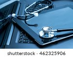 workplace doctor with a... | Shutterstock . vector #462325906