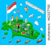 singapore cultural symbols map...   Shutterstock .eps vector #462327700