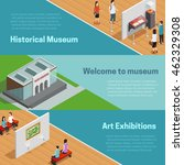 historical and art exhibitions... | Shutterstock .eps vector #462329308