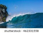 shorebreak ocean wave crashing...   Shutterstock . vector #462331558