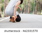 sports injury. woman with pain... | Shutterstock . vector #462331570