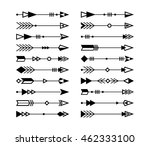 tribal arrows set. ethnic... | Shutterstock .eps vector #462333100