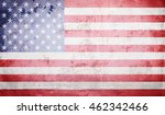 grunge usa flag | Shutterstock . vector #462342466