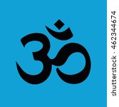 om symbol of hinduism icon... | Shutterstock .eps vector #462344674