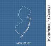 map of new jersey | Shutterstock .eps vector #462350584