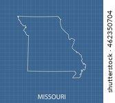 map of missouri | Shutterstock .eps vector #462350704