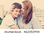 portrait of a mother with her... | Shutterstock . vector #462352954