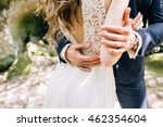 bride and groom at wedding day... | Shutterstock . vector #462354604