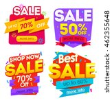 big sale banner. sale and... | Shutterstock . vector #462355648