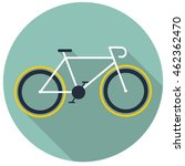 bicycle icon. flat vector... | Shutterstock .eps vector #462362470