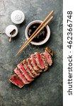 Sliced Grilled Tuna Steak In...