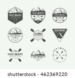 set of vintage rafting logo ... | Shutterstock .eps vector #462369220