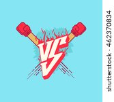 illustration versus fight... | Shutterstock .eps vector #462370834