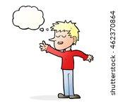 cartoon happy man reaching with ... | Shutterstock . vector #462370864