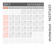 2017 November Calendar  Or Des...