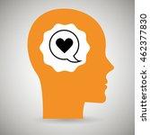 silhouette head heart speech...   Shutterstock .eps vector #462377830